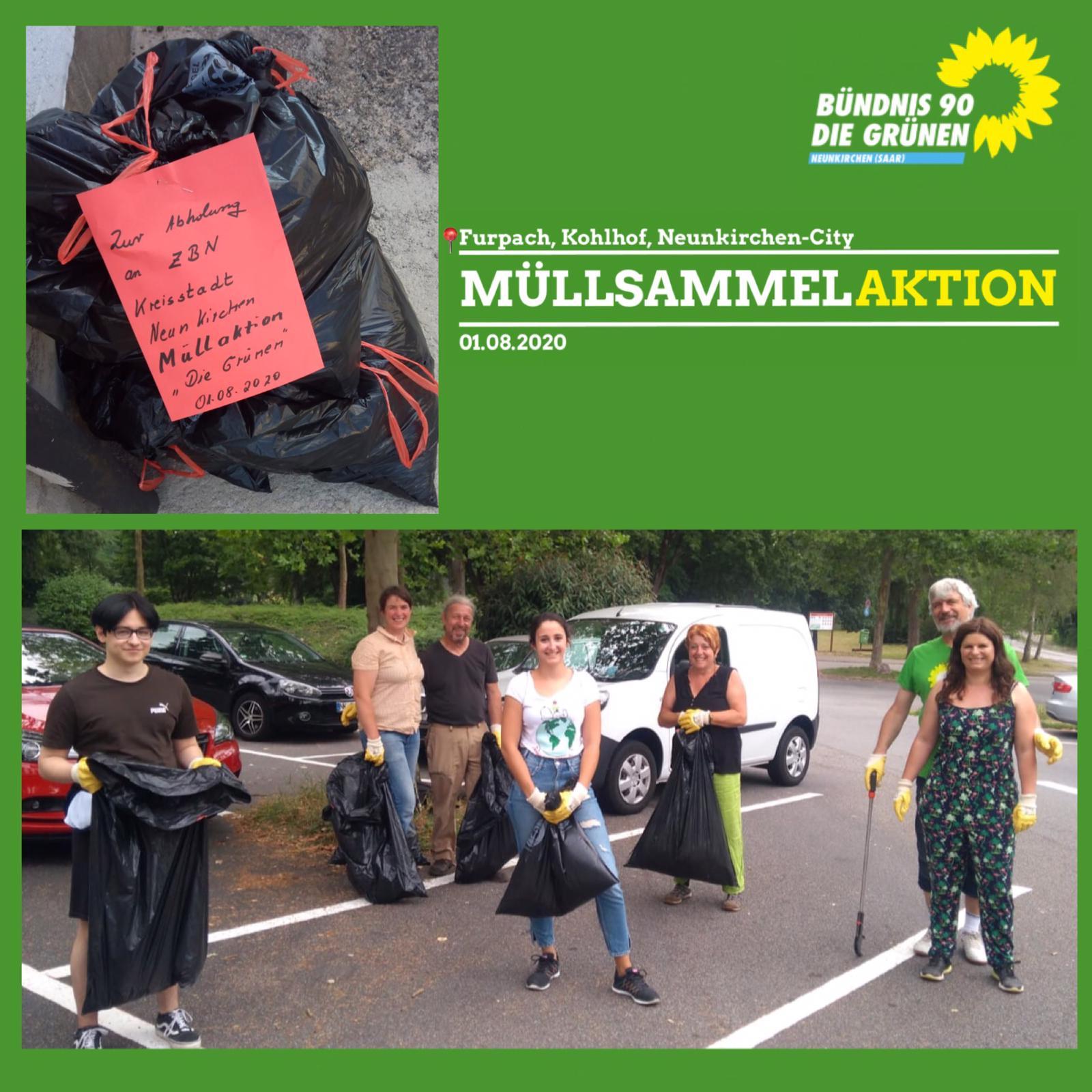PM: Neunkircher Grüne veranstalteten Müllsammelaktion
