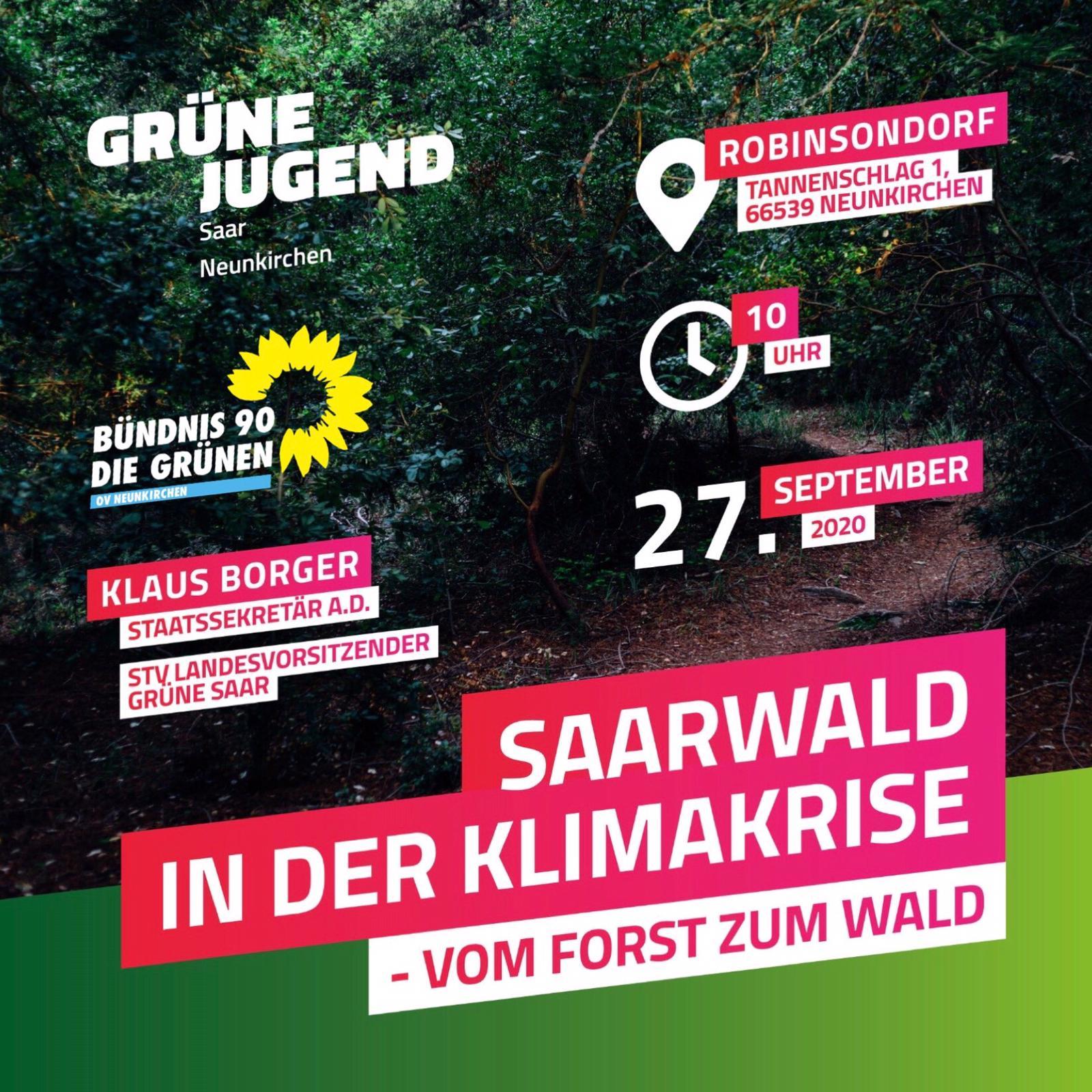 Vortrag: Saarwald in der Klimakrise – vom Forst zum Wald